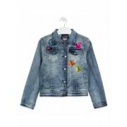 Losan! Meisjes Spijkerjas - Maat 140 - Denim - Jeans