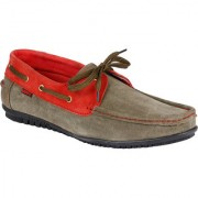 Bachini Mens Olive & Red Lace-up Smart Casuals Shoes