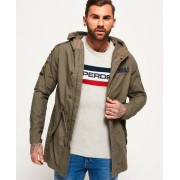 Superdry Rookie Aviator Patched Parka Jacket Green