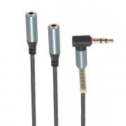 Meco Universal 3.5mm Jack 1 To 2 Dual Earphone Headphone Splitter Standard Audio Cable
