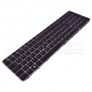 Tastatura Laptop HP Elitebook 755 G3 iluminata cu rama argintie + CADOU