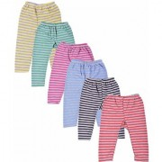 LITTLE Baby Unisex Regular Fit Fleece Pyjama Bottom (Pack of 6) Best Quality Great Fit - Very Soft Stretchable Fit