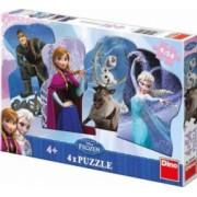 Puzzle 4 in 1 - Frozen - Regatul de Gheata 54 piese