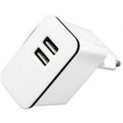 Callmate 10W / 5W Dual USB Wall AC Power Adapter Charger With Micro USB Data Charging Cable - White