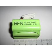 Ni-Mh 9.6V 650mAh