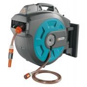 Wand-Schlauchbox 35 roll-up automatic Li - Komplett mit 35 m Qualitätsschlauch 13 mm (1/2 Zoll)