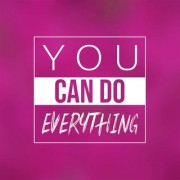 5 Ace you can do everything wall sticker poster motivational and inspirational(size:12x18 inch) multicolo