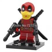 Generic Deadpool Figure Stes Howard The Ducks Marvel Super Hero Building Blocks Set Model Bricks Toys for Children Deadpool The Duck