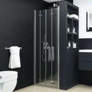 vidaXL Uși dublu-pliabile pentru duș, transparent, 90x185 cm, ESG