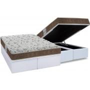 Conjunto Cama Box Baú - Colchão Probel de Espuma D45 ProDormir Advanced + Cama Box Baú Courino Bianco - Conjunto Box Queen Size - 158 x 198