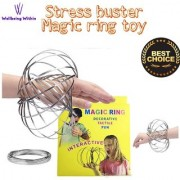 Wellbeing Within Stress Buster Flow Rings Magic Original Kinetic Spring Toy Stainless Steel Rings 3D Sculpture