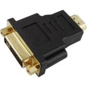 Adaptor Akyga 13010, cu conector HDMI tata la DVI 24+5 mama, transfer bidirectional, conectori auriti, ABS, negru