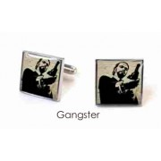 Tyler & Tyler Stencilart White Bricks Cufflinks Gangster