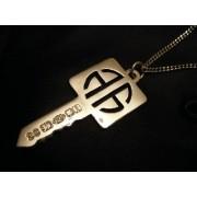 Alick Alexander Square Key Pendant Jewelry Silver