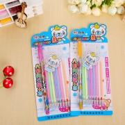 1 pen + 8 Refill/set watercolor chalk gel pen diy decoration for album color pens set korean stationery school suplies