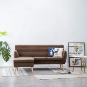 vidaXL Ъглов диван, тапицерия от текстил, 171,5x138x81,5 см, кафяв