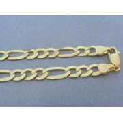 Zlatá retiazka žlté zlato vzor figáro DR552290Z