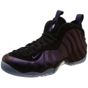 Nike Men's Air Foamposite One, BLACK/VARSITY PURPLE, 7. 5 M US
