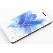 Husa flip Tellur Folio pentru Samsung Galaxy A7 A700 2015 blue flower