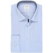 OLYMP Tendenz Regular Fit Hemd bleu, Einfarbig