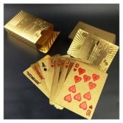 Creativo Plastico Frosted Golden 500 Euro De Nuevo La Textura De Las Vegas A Macao Naipes De Poker Texas