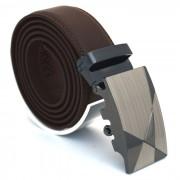 Läderbälte stripe brun 975B