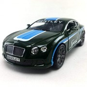 2012 Bentley Continental GT Speed Green Color Kinsmart 1:38 DieCast,Model,Toy,Car,Collectible, Collection, Hobby