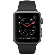 Apple Watch Series 3 42 mm vesmírně šedý hliník s černým sportovním řemínkem