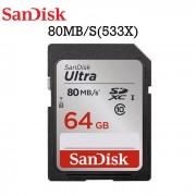 Tarjeta de memoria Sandisk Ultra 64 GB SDXC 80MB / S (SDSDUNC-064G-ZN6IN)