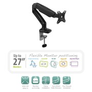 "Ewent EW1515 Desk Mount with gas spring for 1 monitor up to 27"" with VESA"