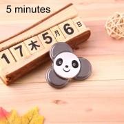Panda Patron Fidget Spinner Toy Reductor De La Tension Anti - Ansiedad De Juguete Para Niños Y Adultos, 5 Minutos De Tiempo De Rotacion Del Acero, Pequeñas Bolas De Rodamiento + Material De Aleacion De Aluminio, Tres Hojas (negro)