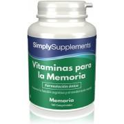 Simply Supplements Vitaminas para la Memoria - 180 comprimidos