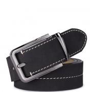 Pánský pásek prošívaný Sammons černý Délka: 36 (105 cm)