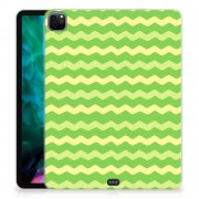 B2Ctelecom iPad Pro 12.9 (2020) Hippe Hoes Waves Green