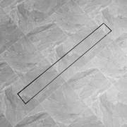 vidaXL Rovný sprchový odtok, 1030x140 mm, nerezová oceľ