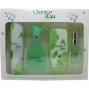 Coty Chanson d'Eau Gift Set 100ml EDT + 15ml EDT + 200ml Shower Gel + 200ml Deodorant Body Spray