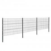 Телена оградна система, две димензии, Сива, 6 x 1,2 m