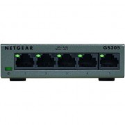 Switch NetGear GS305, 5 x 100/1000Mbps, Metalic