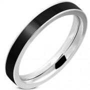 Fekete és ezüst színű nemesacél gyűrű-9