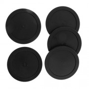 MagiDeal 62mm Plastic Air Hockey Pucks for Game Tables, Set of 5 - Black, 62mm