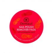Dermacol Nail Polish Remover Pads salviettine levasmalto al profumo di ananas 32 pz donna