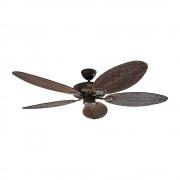 Deckenventilator CLASSIC ROYAL Rotorblatt-Ø 1320 mm, oval Rattan antik / braun antik / bronze