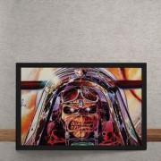 Quadro Decorativo Iron Maiden Ed Hunter Aviador 25x35