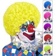 WIDMANN Unisex Curly Clown (Red/Yell/Grn/Pink/Ppl/Blue) Wig for Hair Accessory Fancy Dress