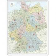 Harta organizării administrativ-teritoriale a Germaniei Bacher Verlag