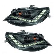 Phares SEAT Ibiza 12-15 - Feux jour LED - Noir