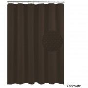 Pack x 2 Cortina De Baño Teflon Estampada Hotel Diamante CHOCOLATE