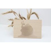 Goblen CASUTA kit de cusut pe placa din lemn obechi