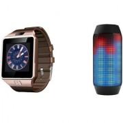 Zemini DZ09 Smart Watch and Pulse 2 Bluetooth Speaker for LG OPTIMUS IT(DZ09 Smart Watch With 4G Sim Card Memory Card  Pulse 2 Bluetooth Speaker)