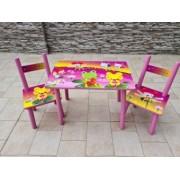 Masuta cu scaunele lemn Cantaretii de pe lac